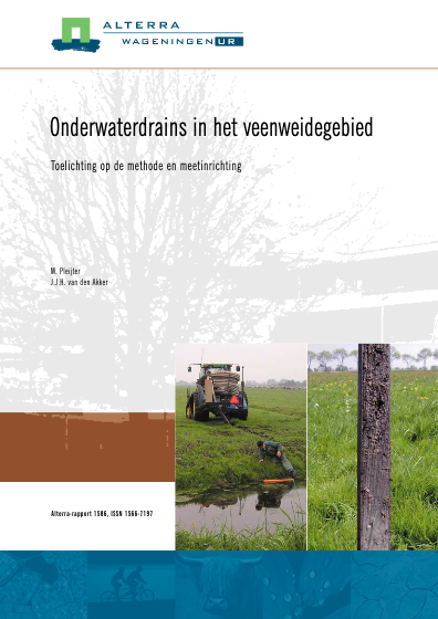 Onderwaterdrains in het veenweidegebied
